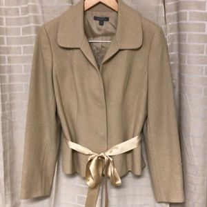 Ann Taylor dress jacket with silk cami